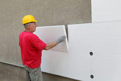 Construction Site, Thermal Insulation Of Wall Stock Image