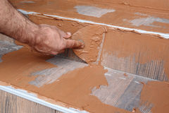 Construction site, tiles Royalty Free Stock Photos