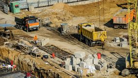 Construction site from top view royalty free stock photos