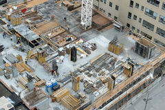 Construction site in Toronto, Canada Royalty Free Stock Photography