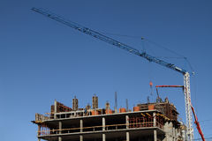 Construction site and tower crane Stock Image