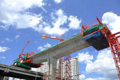 Construction site with Tower Crane Royalty Free Stock Photo