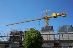 Construction site with tower crane Royalty Free Stock Image