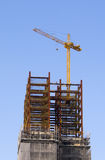 Construction site with tower crane Royalty Free Stock Photography