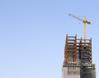 Construction site with tower crane Royalty Free Stock Photos