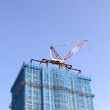 Construction site with tower crane Royalty Free Stock Images