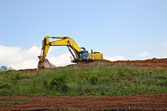 Construction Site Trac Hoe Royalty Free Stock Photography