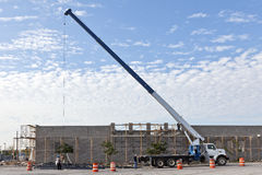 Construction Site with Truck Crane Royalty Free Stock Photo