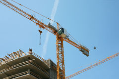 Construction site with two cranes Stock Photography