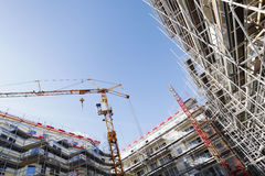Construction site in ultra wide perspective Royalty Free Stock Photos