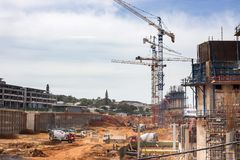 Construction site in Umhlanga. royalty free stock image