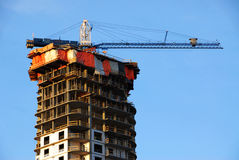 Construction site under blue sky Stock Images