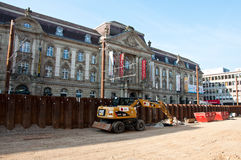 Construction site of underground in Karlsruhe Royalty Free Stock Photography