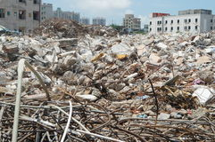 Construction site, urban renewal, in Shenzhen, China Stock Photo