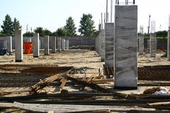 Construction site view Stock Photos