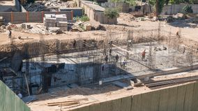 Construction site, view from above stock photo