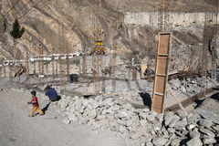 Construction site in the village of Kagbeni Stock Photography