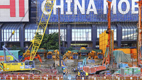 Construction site at wanchai, hong kong Stock Image