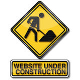 Construction site and website is under construction royalty free illustration