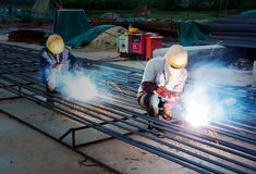 Construction site welders Stock Photography