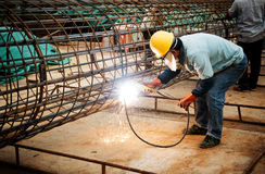 Construction site welders Royalty Free Stock Photo