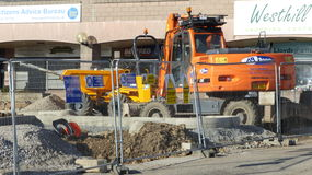 Construction Site. In Westhill, Scotland Stock Image