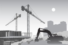 Free Construction Site With Cranes Stock Photography - 19211912