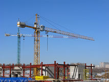 Construction Site With Tower Cranes Stock Image