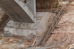 Construction site wooden stair Stock Photography