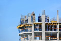 Construction site work Stock Image