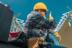 Construction Site Worker royalty free stock photos