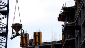 At the construction site stock footage