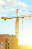 Construction site. Working crane in the sky. Construction site stock images