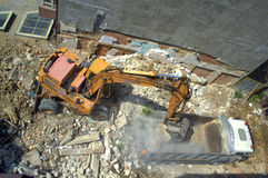 Construction site working machinery Stock Photo