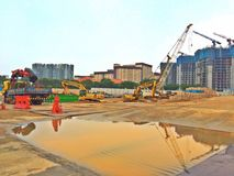 Construction sites in Singapore Royalty Free Stock Photography
