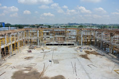 Construction sites under progress in Malaysia Stock Image