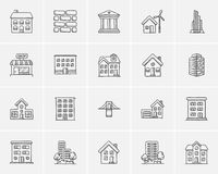 Construction sketch icon set. Stock Image