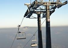 Construction of the ski lift Stock Photos