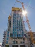 Construction of a skyscraper Stock Photos