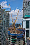 Construction of a skyscraper in a city Stock Images