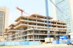 Construction of skyscraper Stock Photos