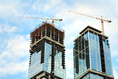 Construction of skyscrapers Royalty Free Stock Photography