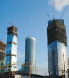 Construction of skyscrapers Royalty Free Stock Image