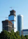 Construction of skyscrapers. Royalty Free Stock Image