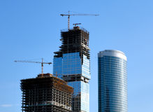 Construction of skyscrapers. Stock Image