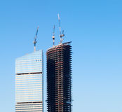 Construction of skyscrapers Stock Photos