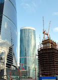 Construction of skyscrapers of the international business centre Stock Image