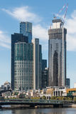 Construction of skyscrapers in Melbourne Royalty Free Stock Image