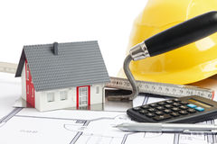 Construction of a small house Stock Photography