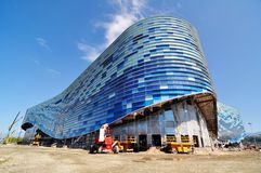 Construction in the Sochi Olympic Park Royalty Free Stock Photos